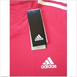 adidas Shirts - Adidas Men's Performance Tee 3S Stripe
